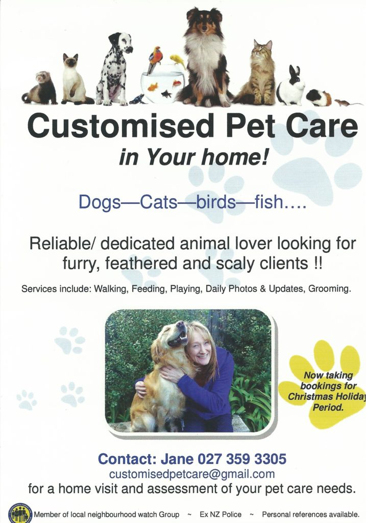 customised pet care